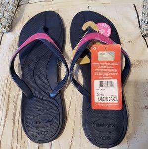 Havaianas women flip-flops size 9/10made in Brazil